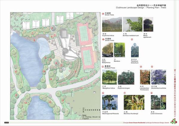 业务介绍 私家花园 翠溪山庄景观设计图     材料布置平面图(停车场绿