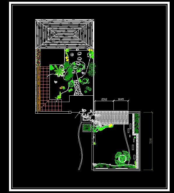 私家花园.cad平面设计 成都别墅花园设计 私家花园设计 厂